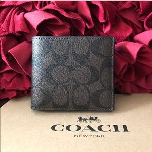 Coach men's wallet with tag and Gift box new